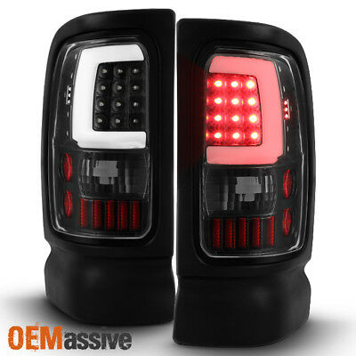 Fit 1994-2001 Dodge Ram 1500 2500 3500 Black LED Tube Tail Lights Replacement