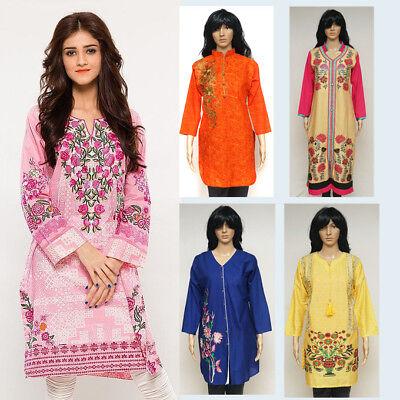 Pakistani Fashion Designers - Indian Designer Women Kurty Pakistani Dress Fashion - US Stock