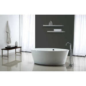 OVE Betsy 67 in. Bathtub with Athena Freestanding Faucet.
