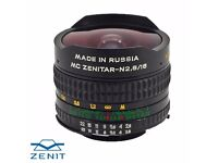 Zenitar 16mm Fish Eye Nikon fit