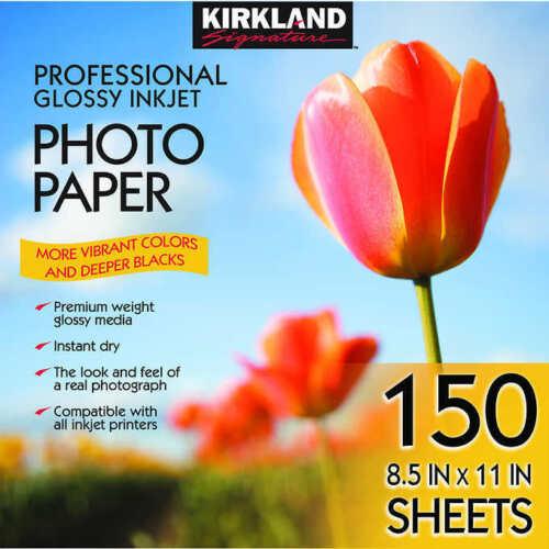 Kirkland Professional Glossy Photo Paper, 8.5 x 11 (150 Sheets) SHIPS / SOLD USA