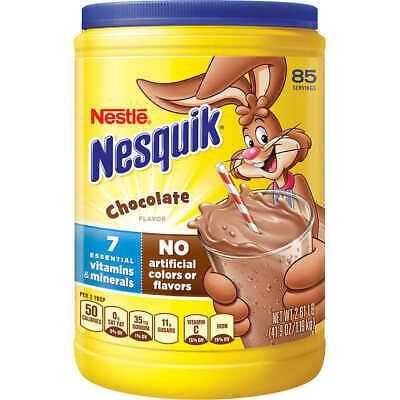 Nestlé Nesquik Chocolate Drink Mix, 2.6 lbs Chocolate Powder 85 Servings -