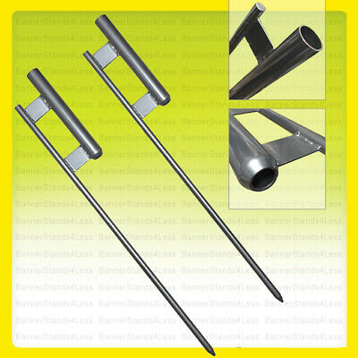 2 Pack - Ground Spike For Swooper Flag Pole Feather Flutter Mount Stake