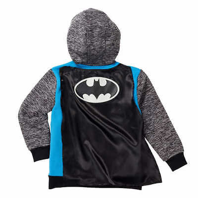 NWT Batman Boy Girl Costume Fleece Lined Hoodie - Batman Kostüm Hoodie