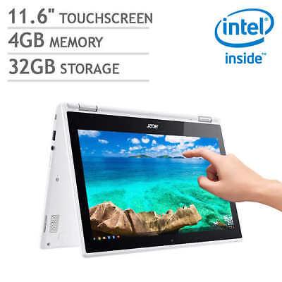 Acer R11 2-in-1 Chromebook - Intel Celeron - N3150 1.6GHz 4GB-32GB eMMc - white