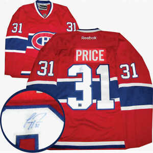Carey Price Signed Montreal Canadiens Red Replica Jersey $300