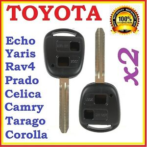 Toyota Remote Key Shell / Case Prado Corolla Yaris RAV4 Echo Blank Two Buttons