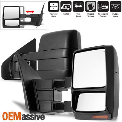 Fit 2004-2006 Ford F150 Pickup Extendable LED Turn Signal Power Towing Mirror