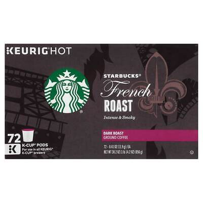 Starbucks French Dark Roast K-Cups Coffee Pods - 72 Count