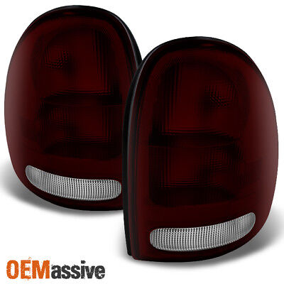 Fit 96-03 Dodge Caravan Durango Plymouth Voyager Dark Red Taillights Replacement
