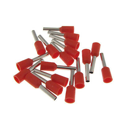 Insulated Wire Ferrules Terminal Connector 22awg Red - Qty100