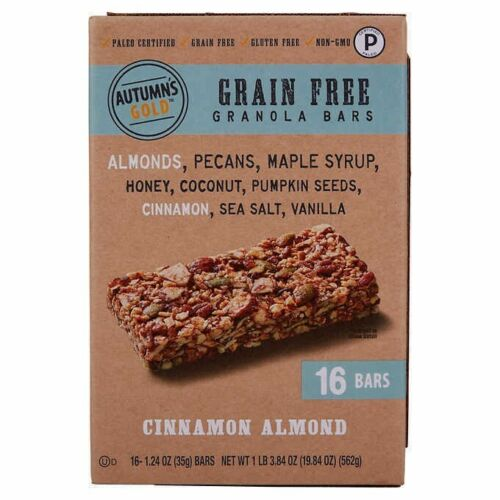 🔥 Autumns Gold Paelo Grain free Granola 16 Bars Cinnamon Almond 🔥