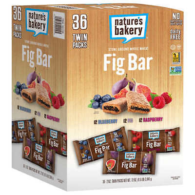 Nature's Bakery Fig Bars, Variety Pack, 2 oz., 36-count