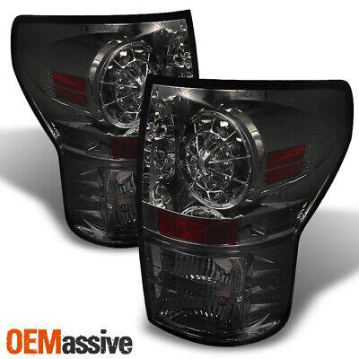 Fits 07-13 Toyota Tundra Pickup Truck Smoked Smoke LED Tail Lights Brake Lamps