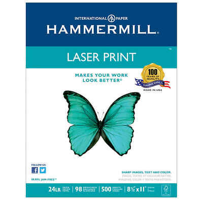 Hammermill Laser Print Paper Letter White 24lb 98-bright 500 Sheets