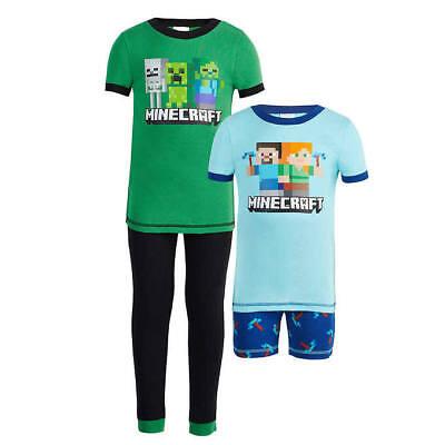 MINECRAFT KIDS 4 PIECE PAJAMAS SIZE 2T 3T 4T 5 6 NEW!](Minecraft Pajamas Kids)