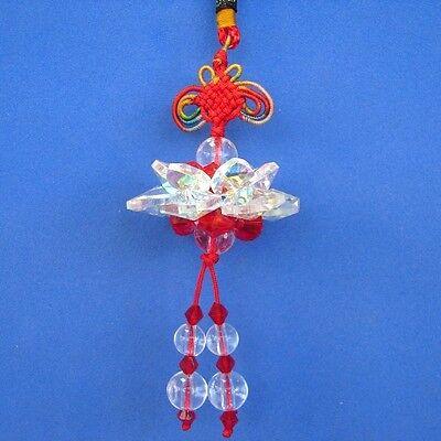 Feng Shui Chino Cristal Lotus Dije