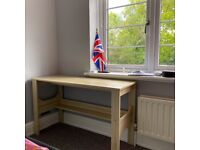 Wooden desk (flatpacked) - mint condition - collection only