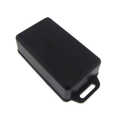 Plastic Abs Project Box Enclosure With Cover Mounting Flange 61x36x20mm - Black