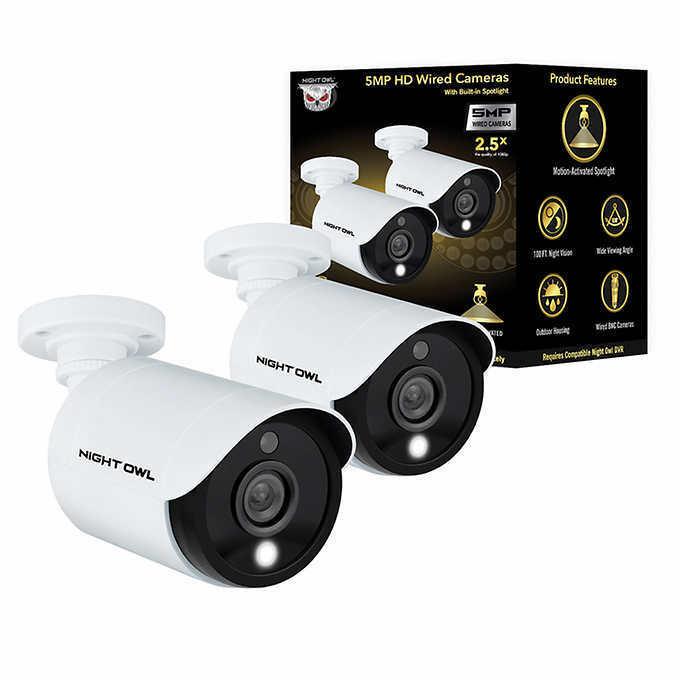 Night Owl C-CAM2PK-T5MP 5MP with Night Vision, 2 PACK -  BRA