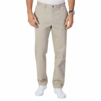 Nautica Men's Stretch Soft Twill Classic Fit Chino Khaki Pants Tan 30x30 NWT