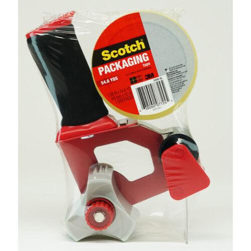"Brand New 3M Scotch Shipping Tape Gun Dispenser Heavy Duty 3""  1 Roll Tape"