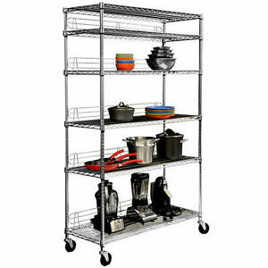 6-Tier Restaurant Chrome Wire Rack - NSF Approved