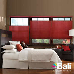 Bali Blinds, black-out double-Insulated, sun up/Sun Down.