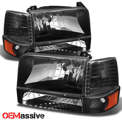 1992 1993 1994 1995 1996 Ford Bronco F150 F250 F350 Corner Bumper Head Lights