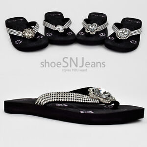 Montana-West-New-Western-Jewel-Bling-Strap-Flip-Flop-Sandals-Rhinestone-Concho