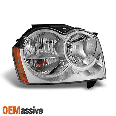 Fit 2005 2006 2007 Jeep Grand Cherokee RH Passenger Side Headlight Replacement - Jeep Grand Cherokee Headlight Replacement