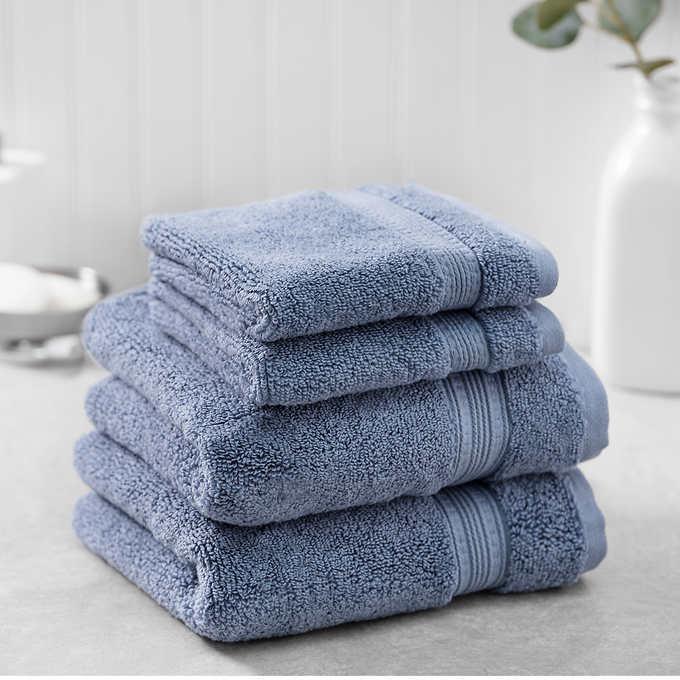 bumpy rib 4 piece towel set 100