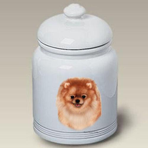 Orange Pomeranian Ceramic Treat Jar TB 34321