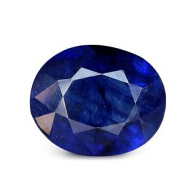Loose Gemstone 100% Original Natural Certified 5 Ct Thailand Oval Blue Sapphire