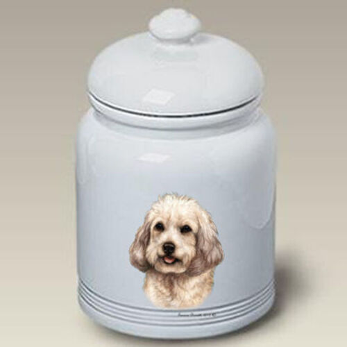 Cockapoo White Treat Jar