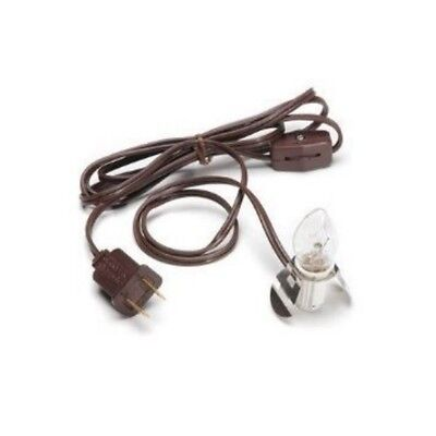 Brown Lamp Cord -  Darice Brown Clip in Lamp Light 6' cord 1 Clear Bulb socket Christmas village