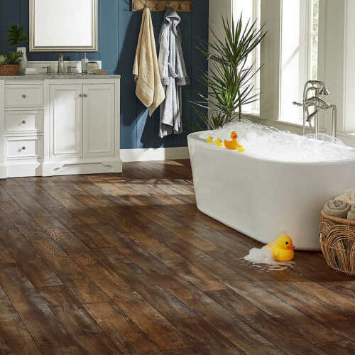 Mohawk Home Woodmill Oak Waterproof Laminate 12mm Thick Plank With 2mm Attached
