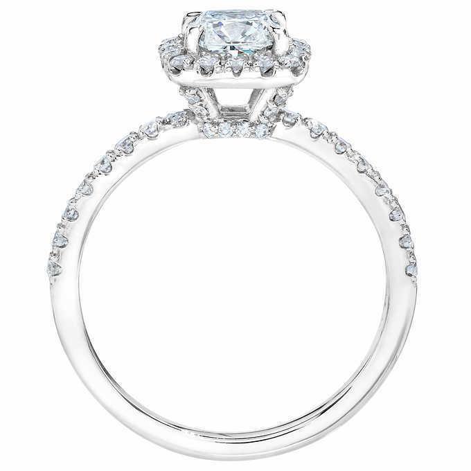 GIA Certified Diamond Engagement Ring 1.12 carat Cushion Shape 18K Gold  2