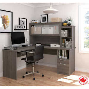 Bestar - Sutton Brown L-Shape Workstation