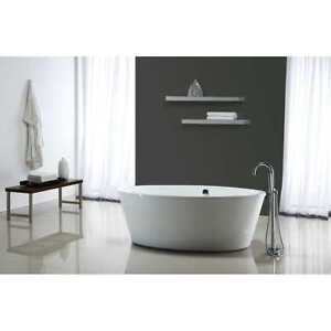 NEW OVE Betsy 67 inch Bathtub with Athena Freestanding Faucet