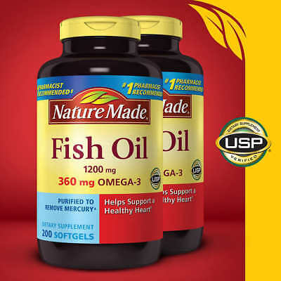 Nature Made Fish Oil 1200 mg., 400 Softgels Free Shipping!!