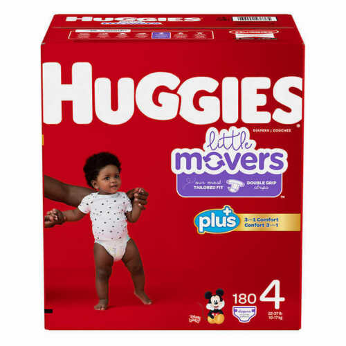 Huggies Little Movers  Baby Diapers, Size 4: 22-37lbs, 174 Count  CWS