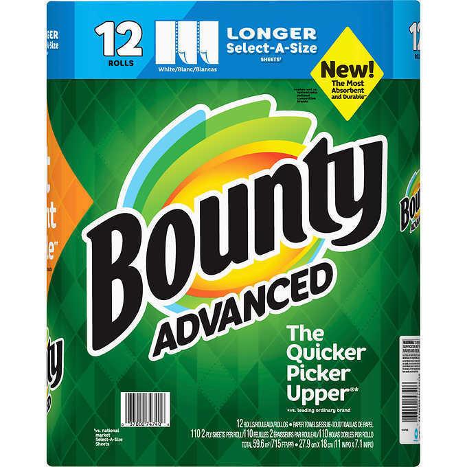 Bounty Advanced Select-A-Size White 12 Rolls / 117 Sheets