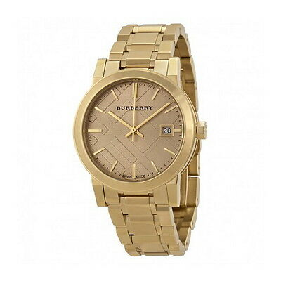 Bu9134 Burberry Gold Tone Ladies Watch Womens The City New On Sale Authentic
