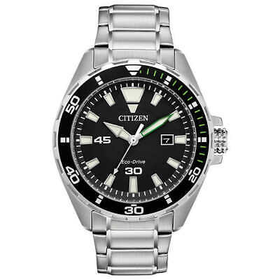 Citizen Men's BM7456-51E Brycen Eco-Drive Black Dial Stainless Steel Watch