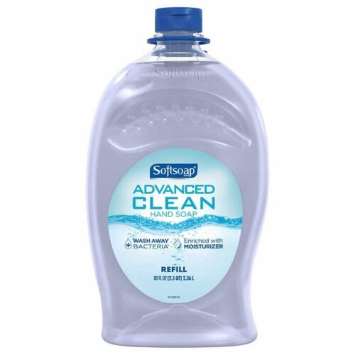 Softsoap Handsoap, Refill, Washes Away Bacteria, 80 Fl Oz Pa