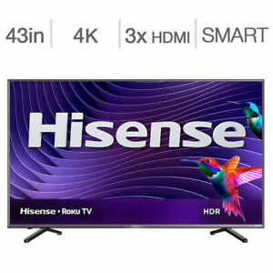 TV Hisense 43R6107 43-in 1080p Smart LED -ROKU TAXES INCLUDED!!