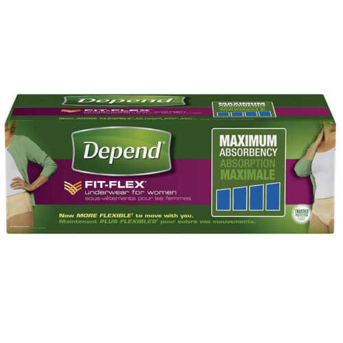 Depend FIT-FLEX Underwear for Women Size: X-Large 72-Count - Free Shipping!