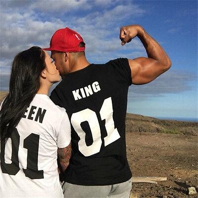 e5e58c2d28 Hot Couple T-Shirt King & Queen Matching Set Sweet Family Love Clothes Tee  Gift