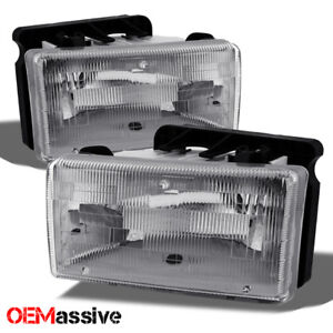 Fit 91-96 Dodge Dakota Truck Replacement Clear Headlights Headlamps Left + Right